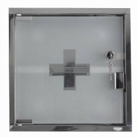 Compact Lockable Medicine Cabinet by Zone - Chrome