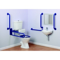 Arley comfort Doc M Low Level Toilet Pack - Blue Rails