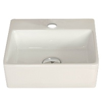 '330' White Ceramic Basin