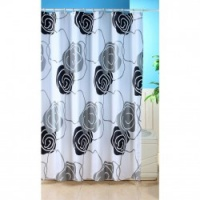 Metallic Shower Curtain - Black