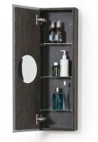 Dark Oak Slimline 800 Bathroom Cabinet
