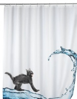 The 'Cat' Anti-Bacterial Shower Curtain