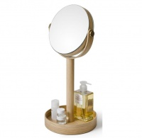 Natural Oak Magnifying Table Mirror