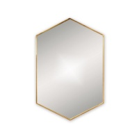 Docklands Hexagonal Mirror - Brass