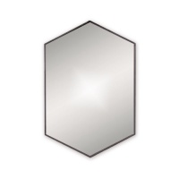 Docklands Hexagonal Mirror - Black