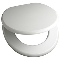 White lacquered MDF Toilet Seat