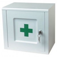 Easyclean Lockable White Medicine Cabinet