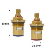 Hart 3/4'' Short Length Quarter Turn Tap Valves- 50mm Tall