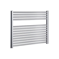 Horizontal Chrome Heated Towel Rail 600 x 800