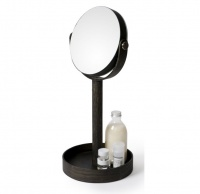 Dark Oak Magnifying Table Mirror