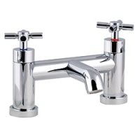 Minima Cross Handle Bridge Bath Filler