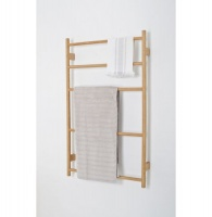 Wall Bar Towel Ladder - Natural Oak