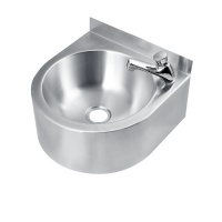 Euro Stainless Wall Mounted Integrated  Basin