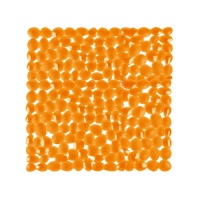 Pebble Bath & Shower Mats - Orange