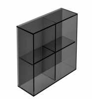 Pier 4 Box Square Glass Shelf - Black