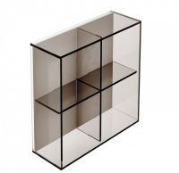 Pier 4 Box Square Glass Shelf - Bronze