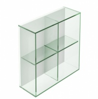 Pier 4 Box Square Glass Shelf - Clear