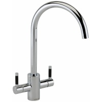 Genesis Luxury Swan Neck Sink Mixer Tap - Black or White Levers