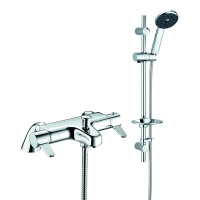 Satinjet Paddle Lever Thermostatic Bath Shower Mixer