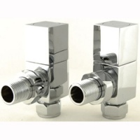 Qube Square Radiator Valve (pair)
