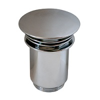Premier Push Button Basin Waste with Decorative Cover - Slotted