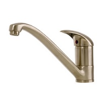 WAVE Single Lever Brushed Nickel Kitchen Monobloc Mixer Tap