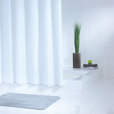 Essentials Narrow Shower Curtain (120cm) - White