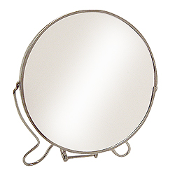 Simple magnifying vanity mirror